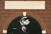 Baseball Stadiums Posters - William Grayson Stadium Entrance with Sand Gnats logo Poster by Bradford Martin