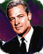 Allen Glass Framed Prints - William Holden Framed Print by Allen Glass