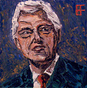 Barack Obama Oil Paintings - William Jefferson Clinton by Brian Forrest