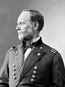 Military Photo Framed Prints - William Tecumseh Sherman Framed Print by American School
