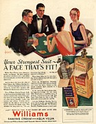 Fragrances Art - Williams 1920s Usa Aftershave Bridge by The Advertising Archives