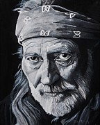 Songwriter Painting Originals - Willie  by Brian Broadway