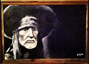 Willie Nelson Painting Originals - Willie by Corbin Runnels