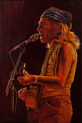 Willie Nelson Painting Originals - Willie in Austin by Debbie Patrick
