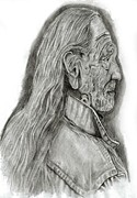 Music Legend Drawings - Willie by Jacob Logan