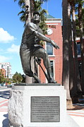 Baseball Stadiums Acrylic Prints - Willie Mays at San Francisco Giants ATT Park . 7D7636 Acrylic Print by Wingsdomain Art and Photography