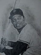 Willie Mays Posters - Willie Mays Poster by Sanely Great