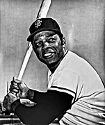 Willie Mays Framed Prints - Willie Mays Painting Framed Print by Florian Rodarte