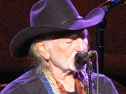 Melinda Saminski Metal Prints - Willie Nelson Metal Print by Melinda Saminski