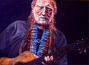 Willie Nelson Painting Originals - Willie Nelson by Merv Scoble