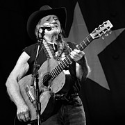 Nelson Framed Prints - Willie Nelson on Stage Framed Print by Sanely Great