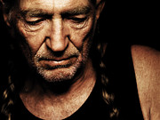 Willie Nelson Posters - Willie Nelson Portrait Poster by Sanely Great