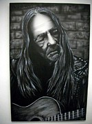 Willie Nelson Painting Originals - Willie Nelson Signed canvas piece by Usman Khan