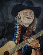 Willie Nelson Posters - Willie Nelson Poster by Stefon Marc Brown