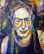 American Singer Paintings - Willie Nelson by To-Tam Gerwe