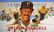 Athlete Mixed Media Prints - Willie Stargell Print by Cliff Spohn