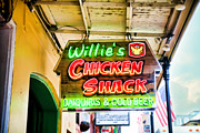 Colorful Chicken Framed Prints - Willies CHicken Shack Framed Print by Sylvia Cook