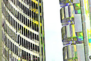 Willis Digital Art - Willis Group and Lloyds of London Abstract Art by David Pyatt