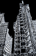London England  Digital Art - Willis Group and Lloyds of London by David Pyatt