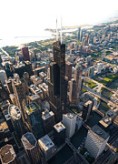 Aerial Originals - Willis Tower Chicago Aloft by Steve Gadomski