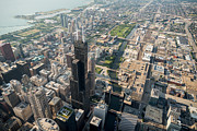 Aerial Originals - Willis Tower Southwest Chicago Aloft by Steve Gadomski