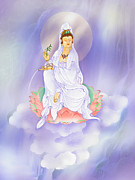 Guanyin Art Framed Prints - Willow Avalokitesvara Framed Print by Lanjee Chee