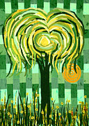 Daisies Tapestries - Textiles Posters - Willow Poster by Jean Baardsen