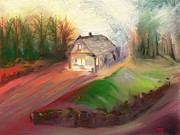 Hall Mixed Media Prints - Willowbys Shack - Where magic happened Print by Andrew Penman
