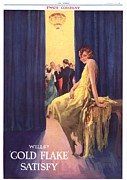 Smoking Drawings Posters - WillÕs 1930s Uk Cigarettes Smoking Gold Poster by The Advertising Archives