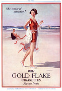 Swimsuits  Swimming Costumes Posters - Wills Gold Flake 1920s Uk Wills Poster by The Advertising Archives