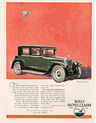 American Automobiles Metal Prints - Wills Sainte Claire 1925 1920s Usa Cc Metal Print by The Advertising Archives