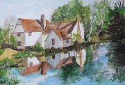 Landscape Ceramics Metal Prints - Willy Lotts House Metal Print by Joan Edge