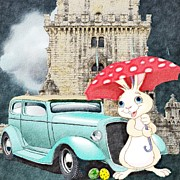 Cartoonish Art - Willy The Wabbit Urrr I Mean Rabbit by Liane Wright