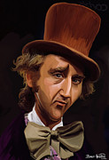 Tie Digital Art - Willy Wonka by Brett Hardin