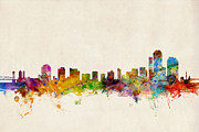 Silhouette Digital Art - Wilmington Delaware Skyline by Michael Tompsett