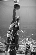 76ers Framed Prints - Wilt Chamberlain Poster Framed Print by Sanely Great