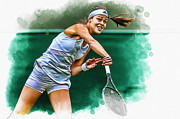 Ana Ivanovic Print by Don Kuing