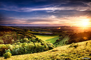 Simon Bratt Photography Posters - Winchester hill sunset Poster by Simon Bratt Photography