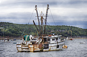 Shrimp Boat Prints - Wind and Spirit Print by Betsy A Cutler East Coast Barrier Islands