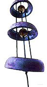 Chimes Framed Prints - Wind Chime 8 Framed Print by Sharon Cummings