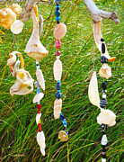 Chimes Prints - Wind Chimes at the Beach Print by Michelle Wiarda