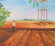 Alternative Painting Originals - Wind Farm by Dori Marshall