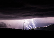 Lightning Strike Originals - Wind farm lightning by Marko Korosec