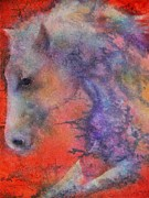 Native American Watercolor Paintings - Wind Horse by Robert Hooper