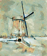 Mill Digital Art - Wind Mill 3 by Yury Malkov