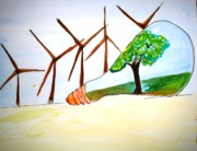 Sonali Singh - Wind mill n green...