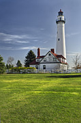 Tom Biegalski Acrylic Prints - Wind Point Lighthouse Acrylic Print by Tom Biegalski