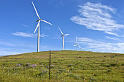 Open Sky Prints - Wind power Eastern Washington. Print by Gino Rigucci