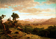 Bierstadt Prints - Wind River Country Print by Albert Bierstadt