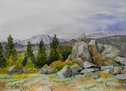 Wyoming Paintings - Wind River Rock Pile by Todd Derr